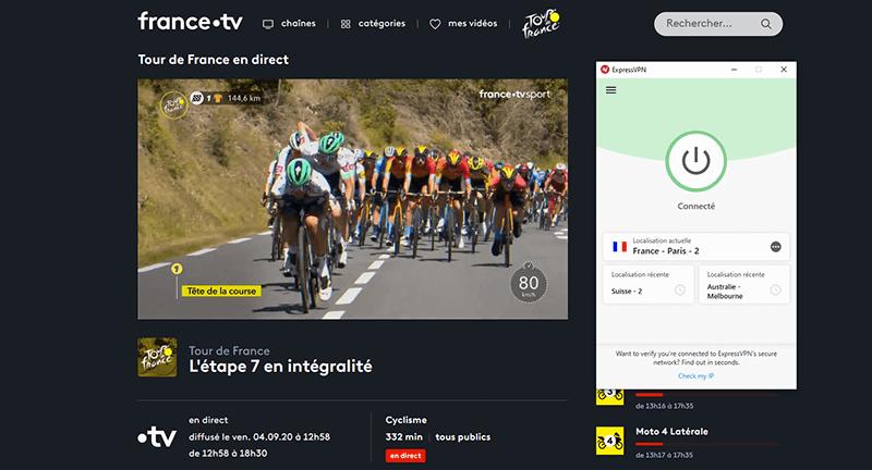 Déblocage de France TV Tour de France