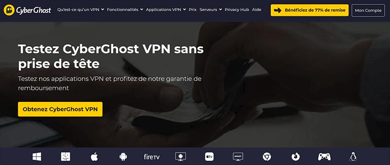 Garantie satisfait remboursé CyberGhost