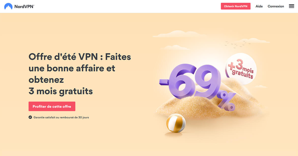 NordVPN Page accueil