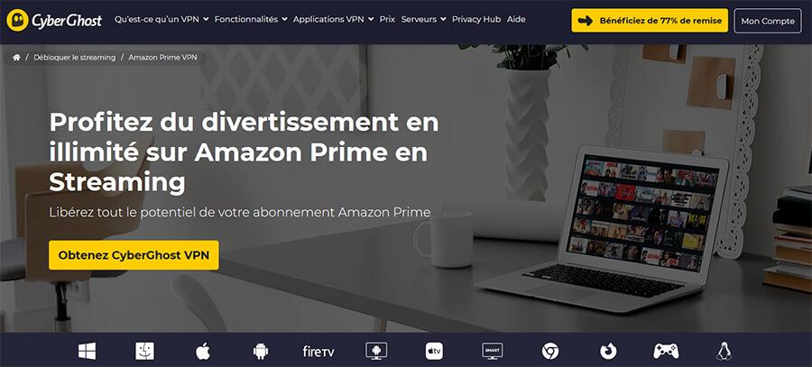 CyberGhost Amazon Prime Video