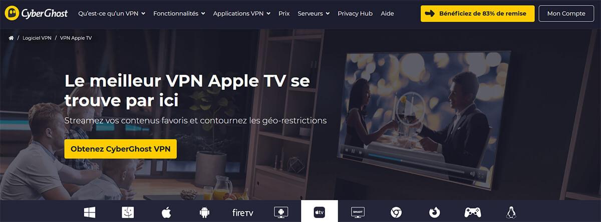 CyberGhost VPN Apple TV