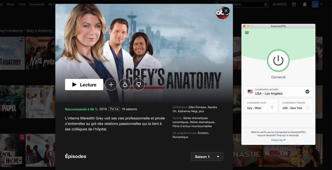 Grey's anatomy sur Netflix