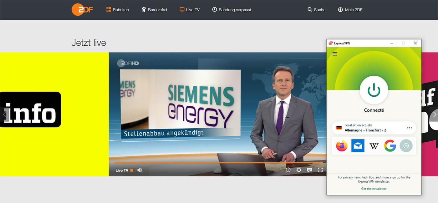 Regarder ZDF direct en France ExpressVPN