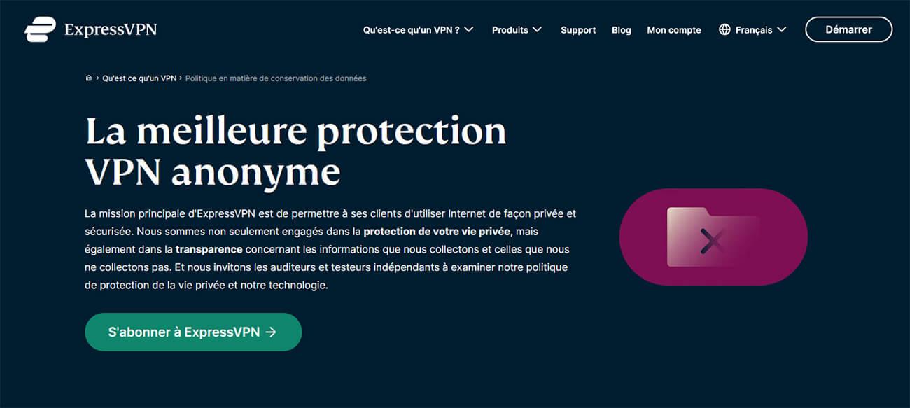 VPN Anonyme No Logs ExpressVPN