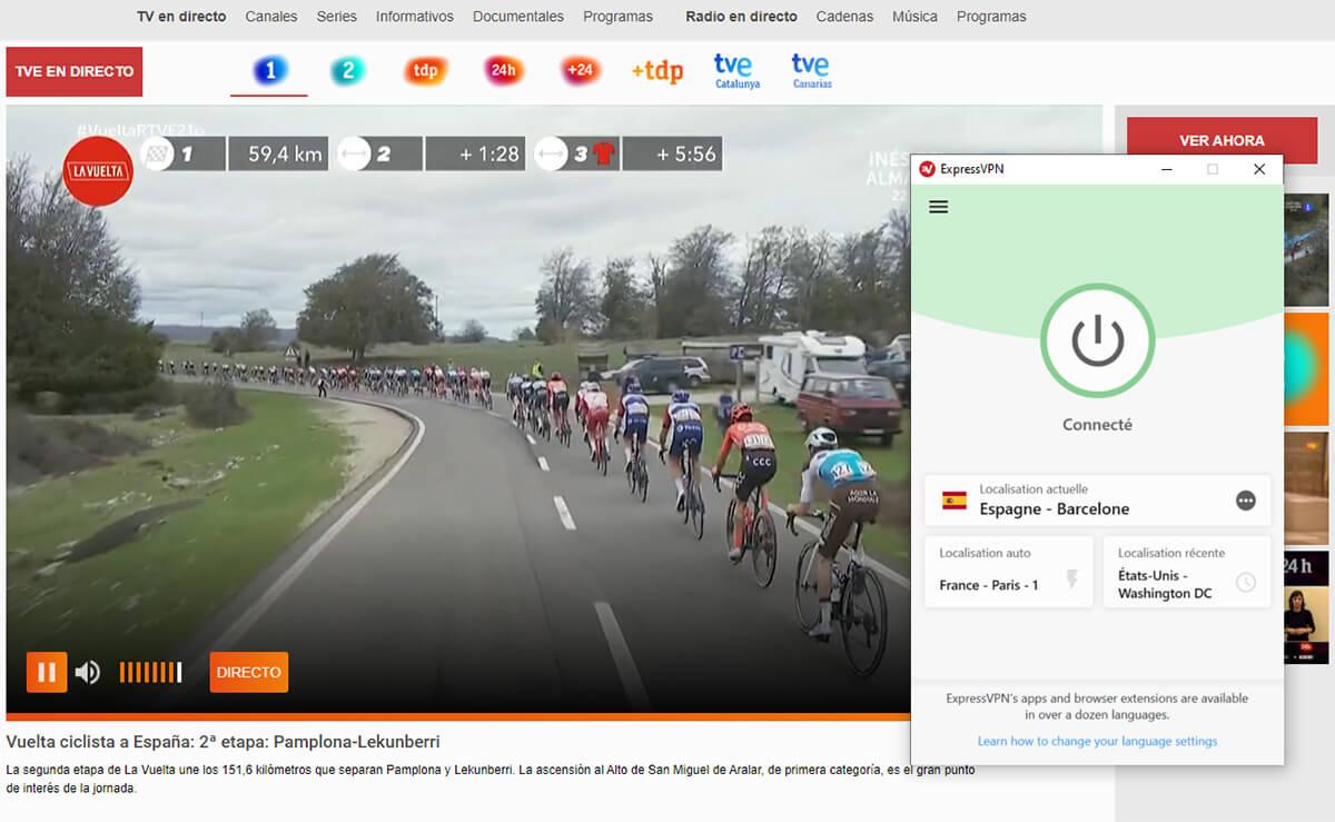 Accès direct Vuelta chaîne gratuite