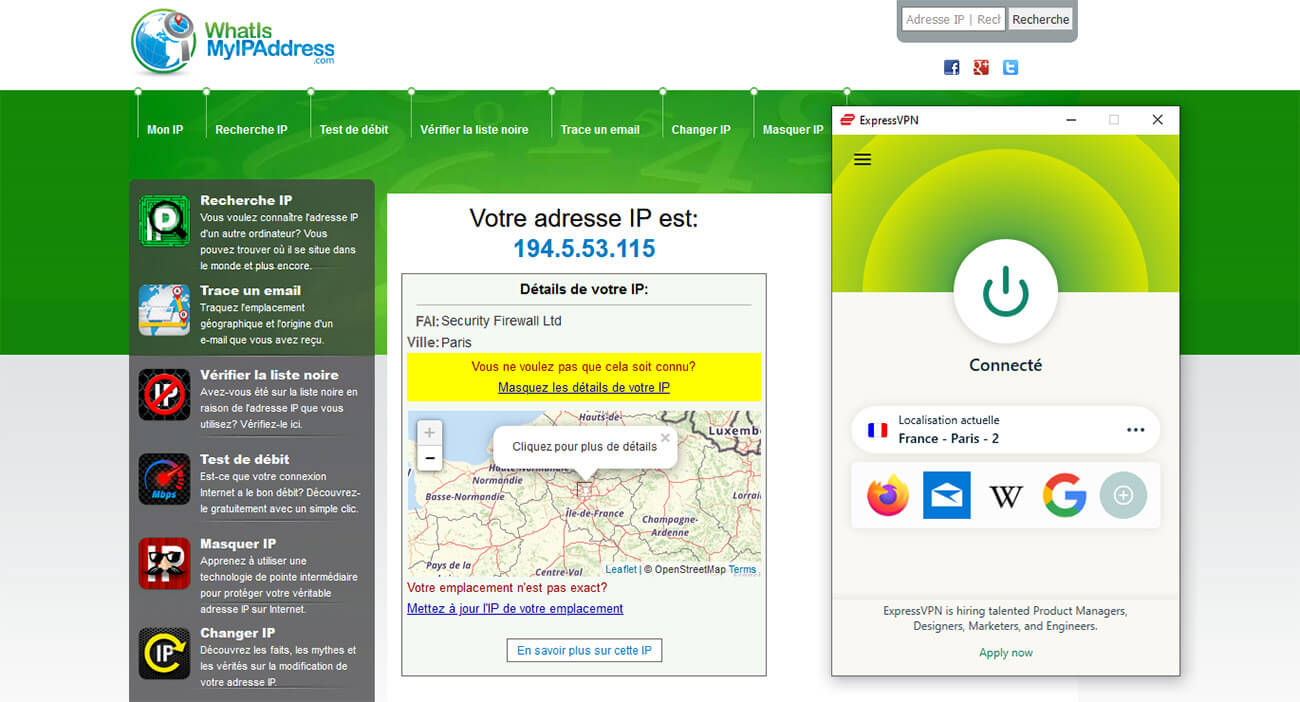 Adresse IP française France 3