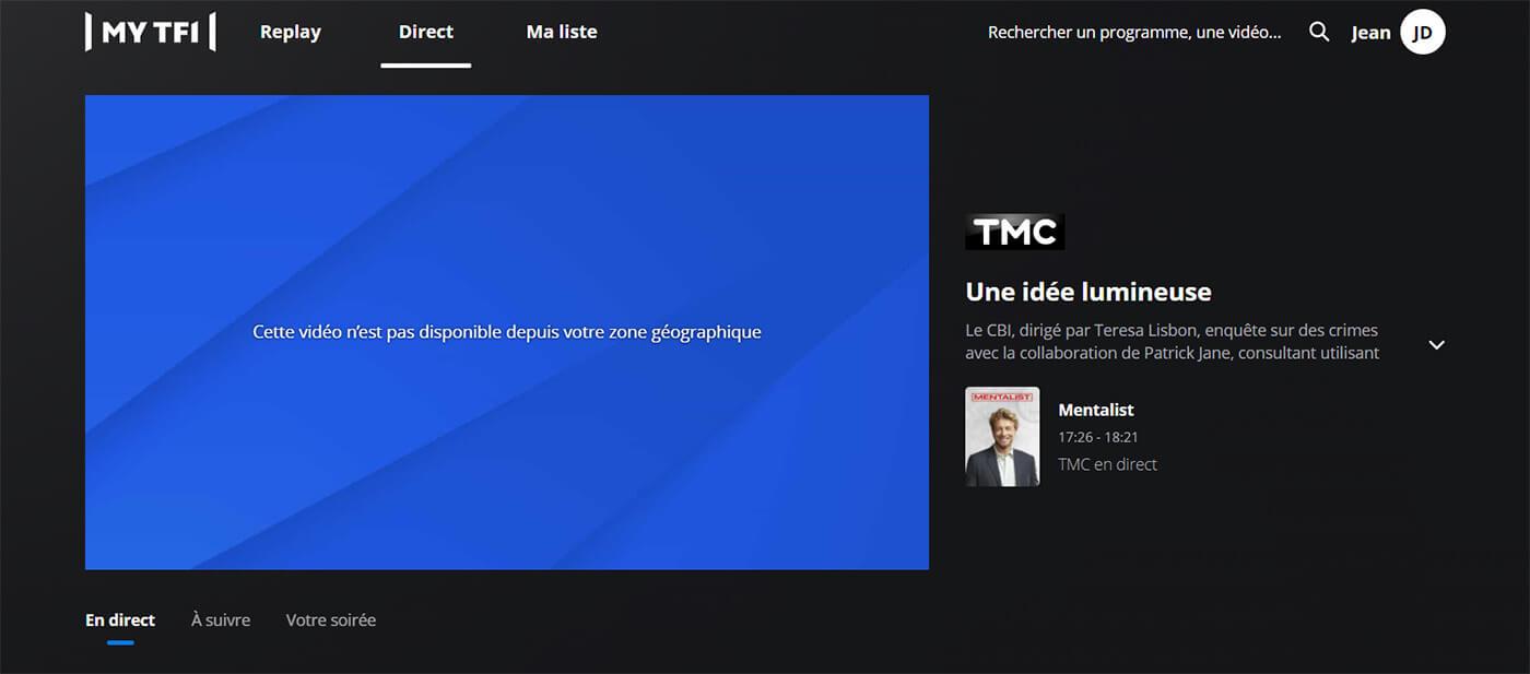 Message erreur blocage TMC direct étranger