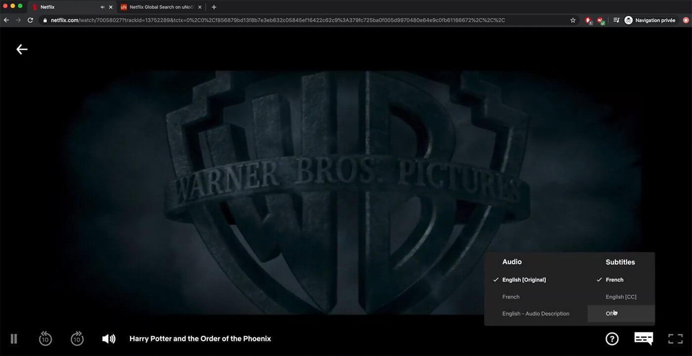 Déblocage Harry Potter Netflix
