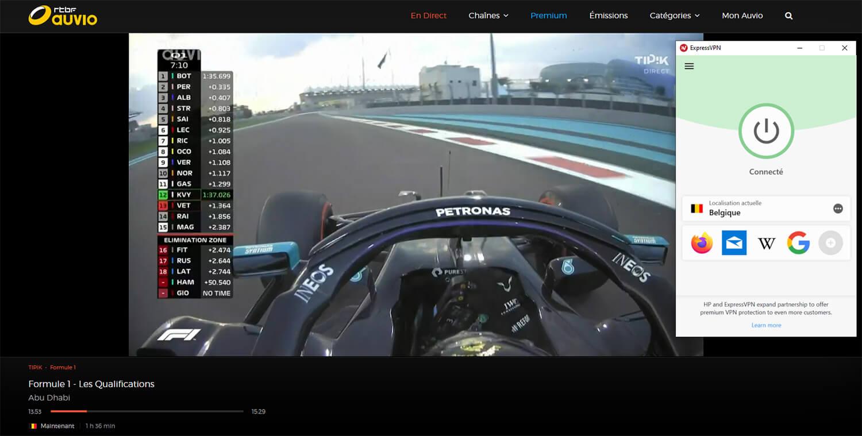Déblocage RTBF France Formule 1 Direct