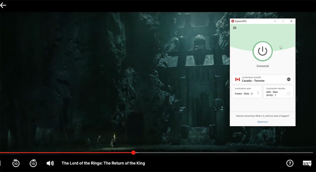Déblocage Seigneur des Anneaux Netflix