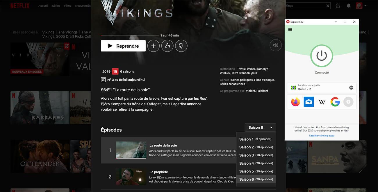 Déblocage Vikings Saison 6 Netflix Brésil