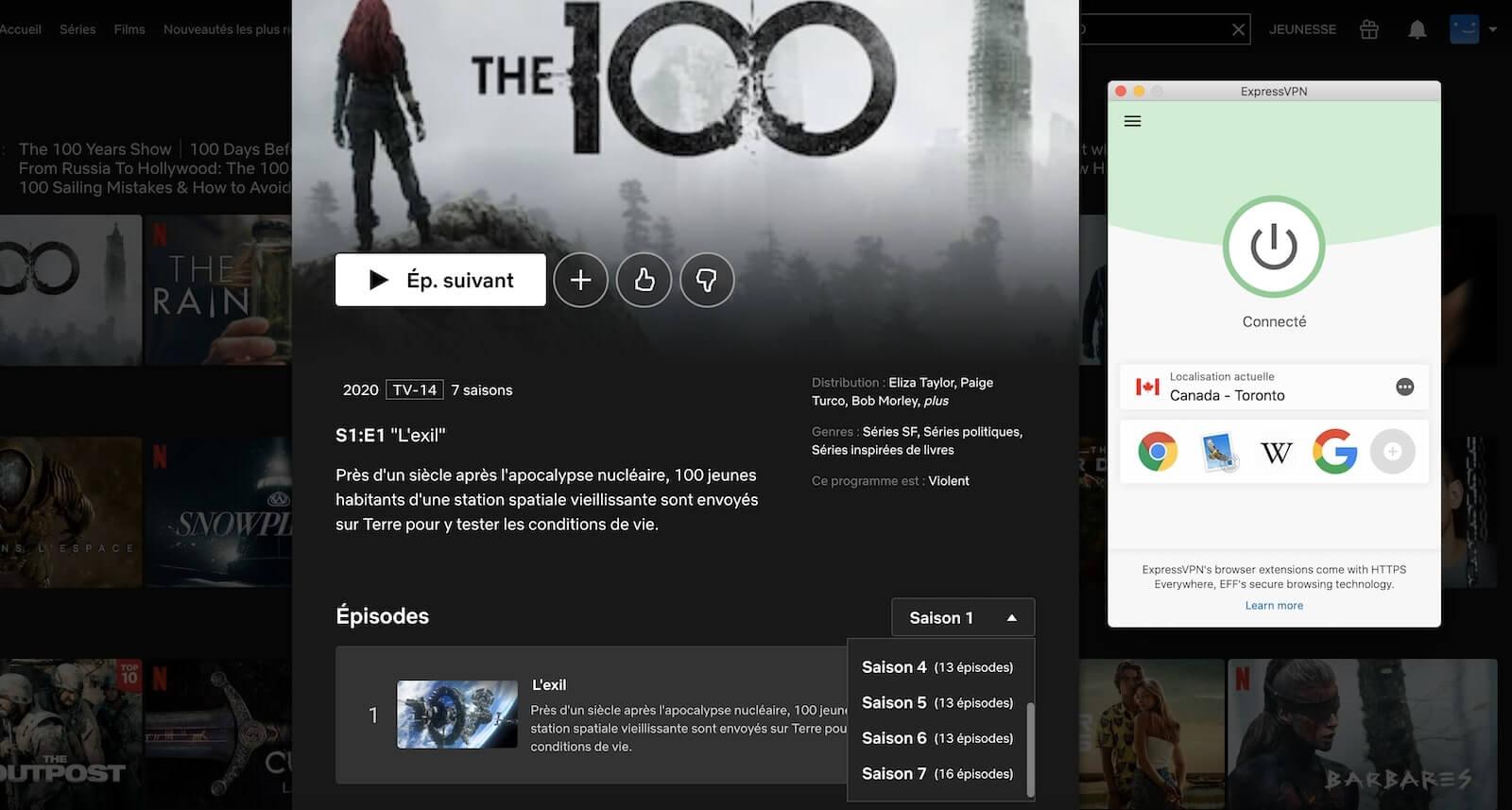 the 100 saison 7 sur Netflix