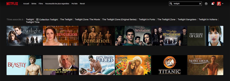 Accès Films Twilight Netflix