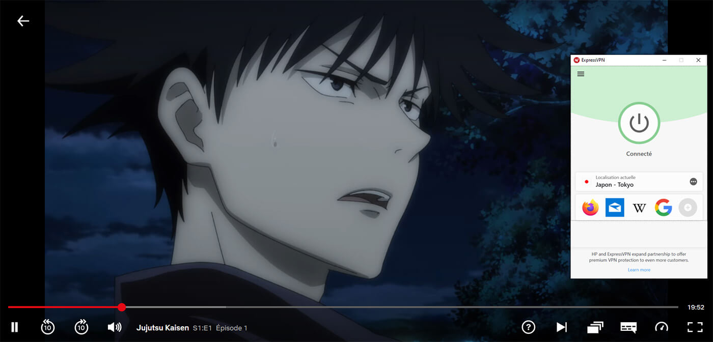 Déblocage Jujutsu Kaisen Netflix Japonais ExpressVPN