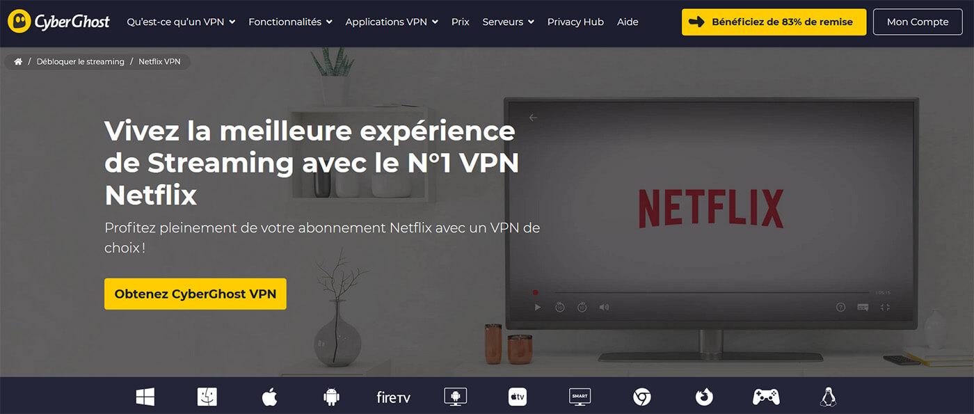 Débloquer Netflix CyberGhost