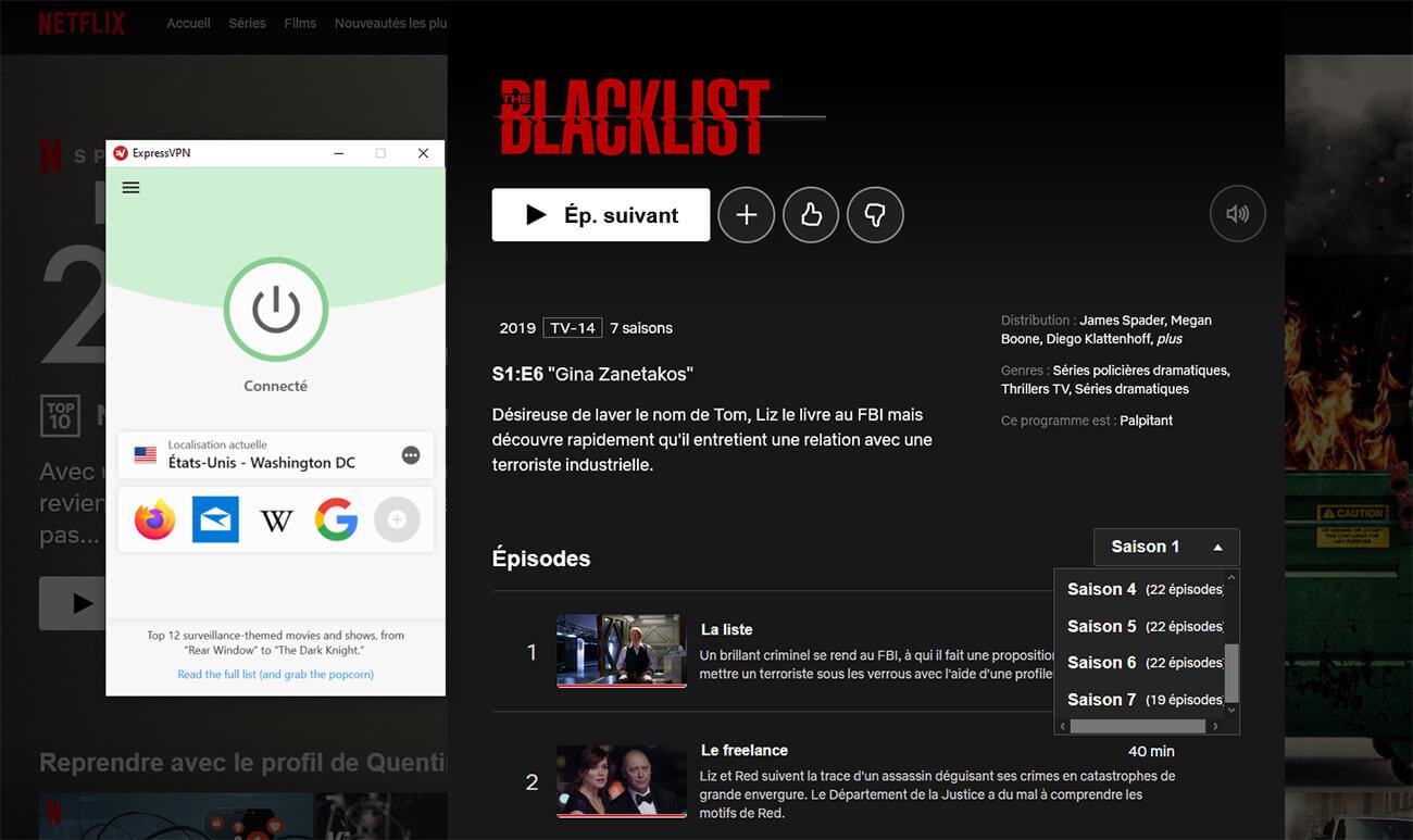 Netflix US Saison 7 Blacklist