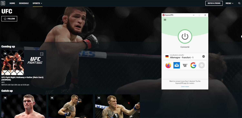 Regarder UFC Direct DAZN Allemagne