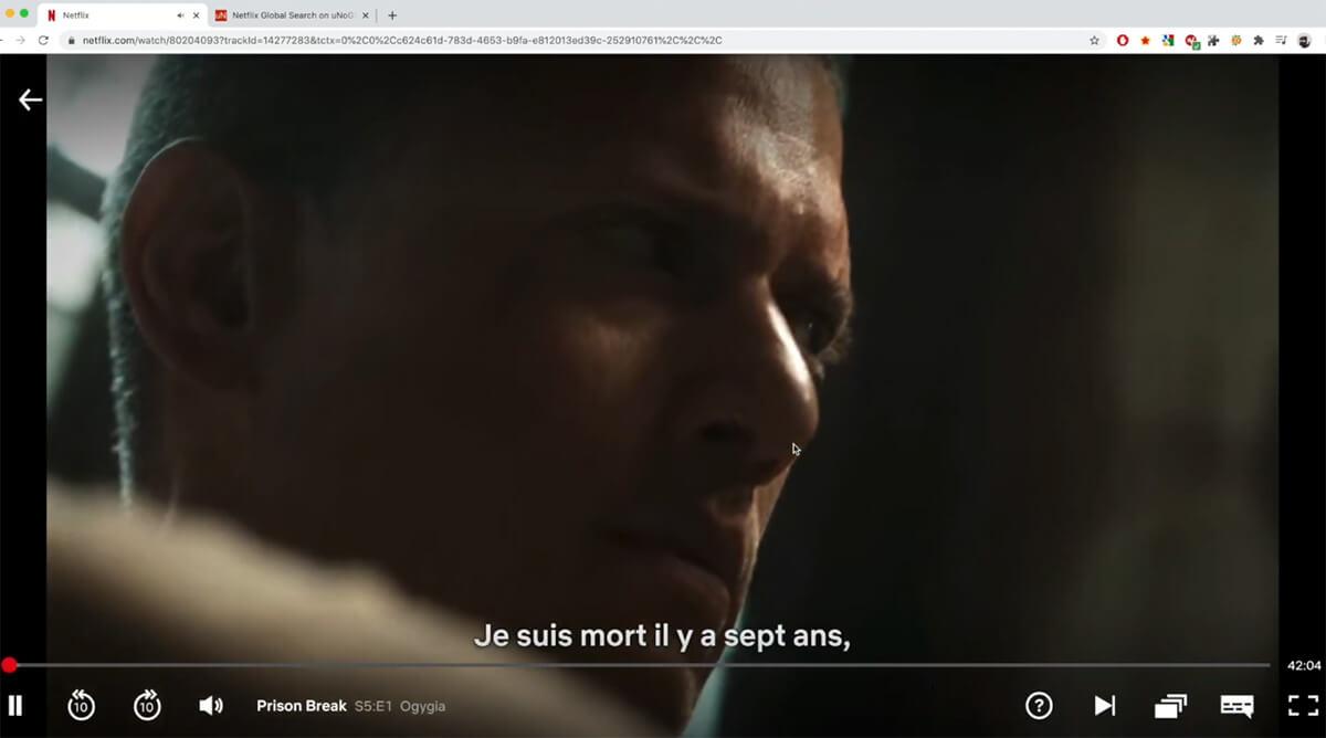 Visionnage Prison Break Saison 5 Netflix France