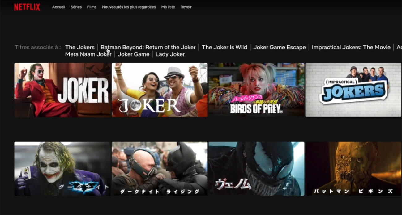 Accès Joker Netflix