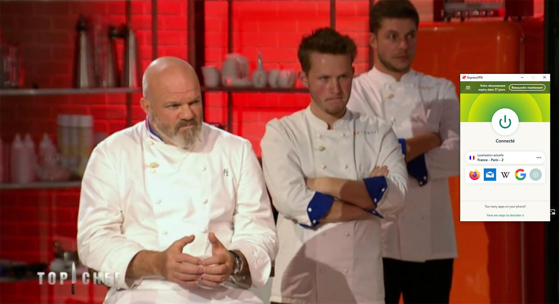 Accès direct Top Chef 6play étranger