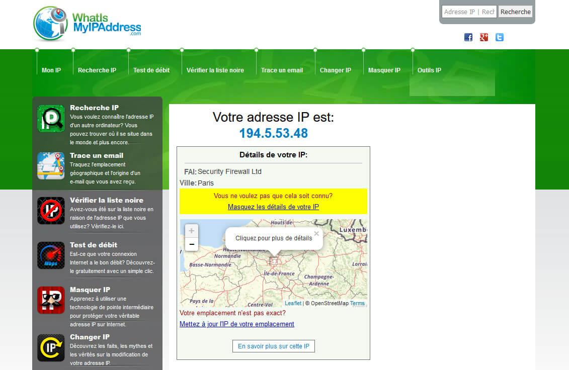 Localisation liée Adresse IP