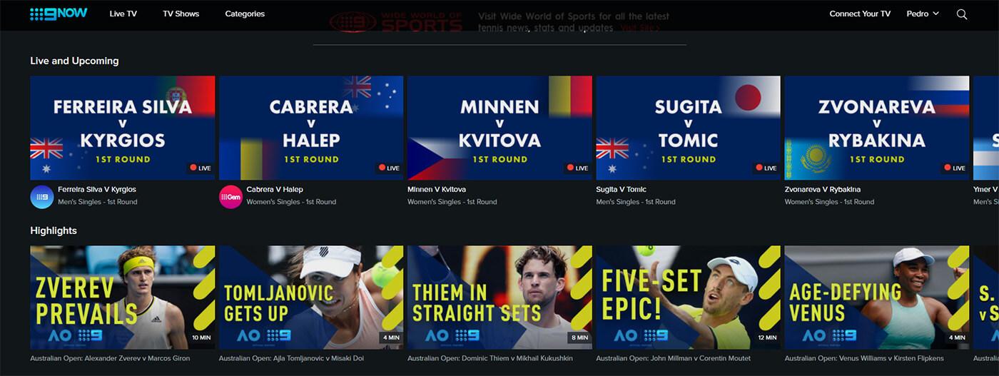 Programme TV Chaine gratuite 9NOW Open Australie