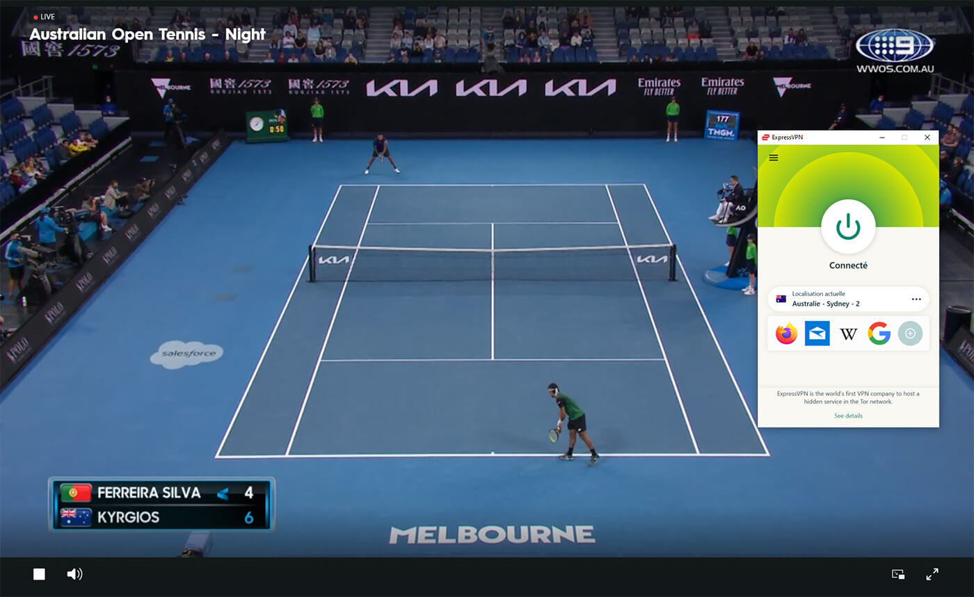 Streaming Direct 9NOW Open Australie