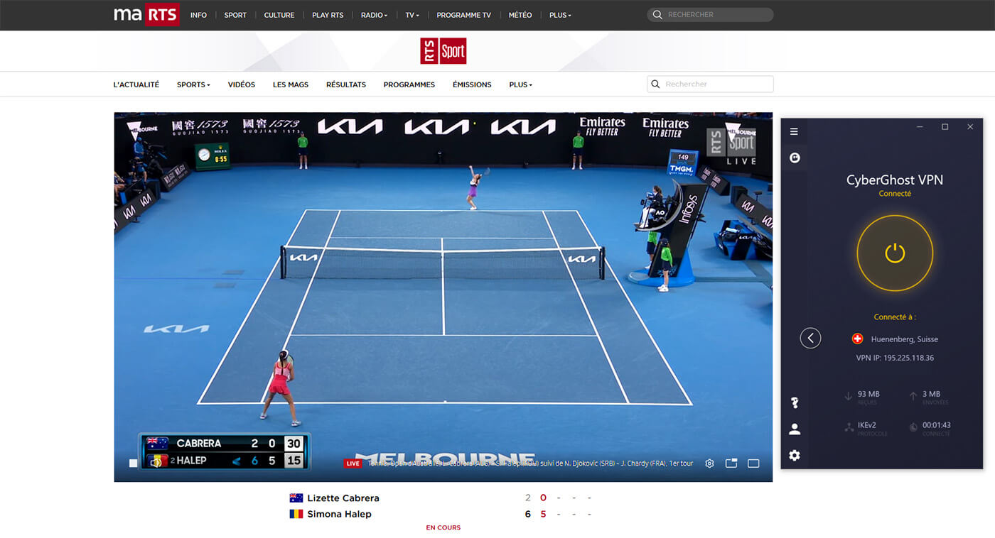 Streaming direct RTS Chaine Gratuite Open Australie