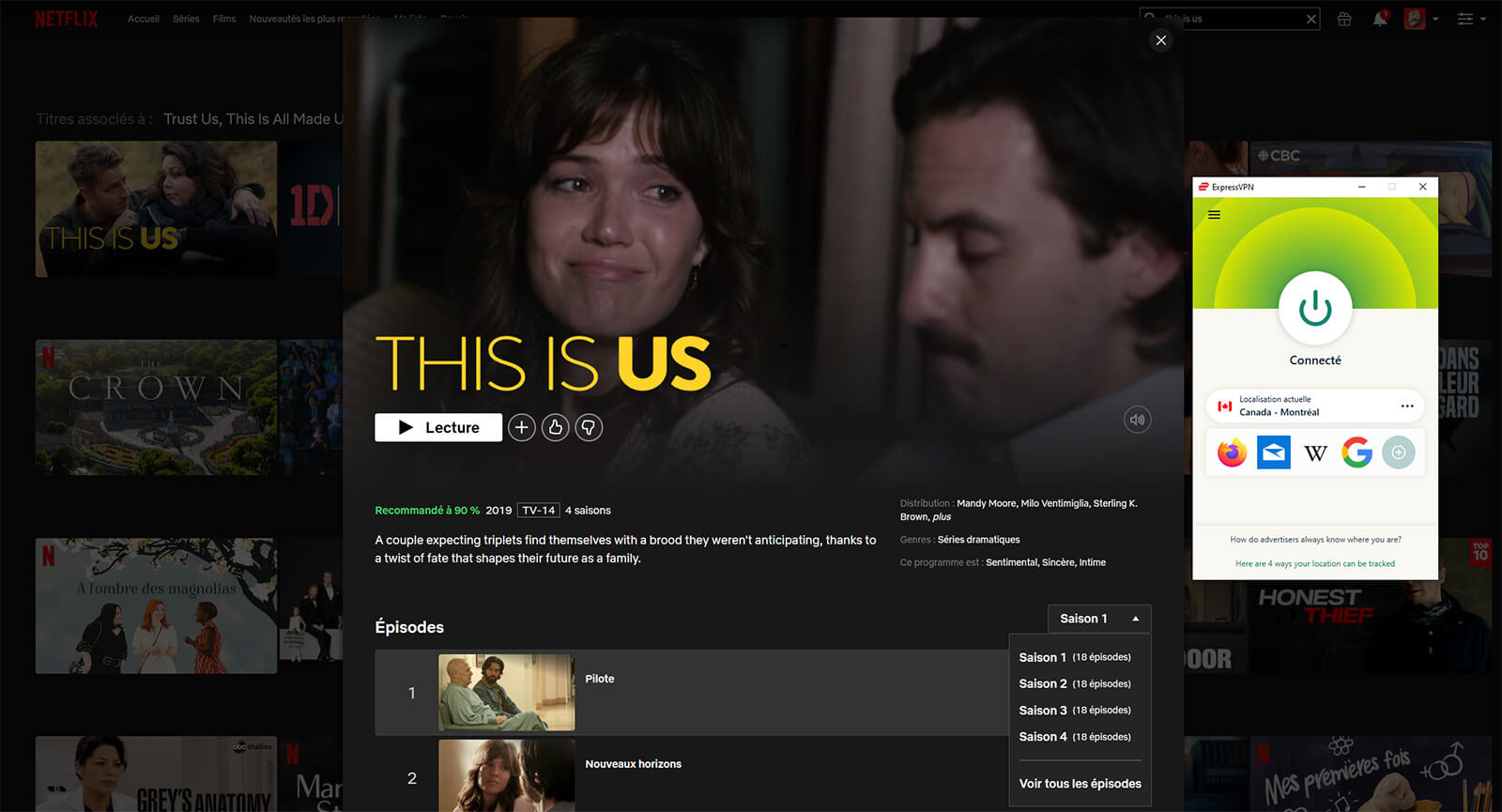 Accès This Is Us 4 saisons Netflix Canada