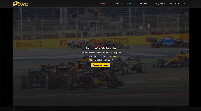 Message erreur chaine gratuite RTBF F1 Direct