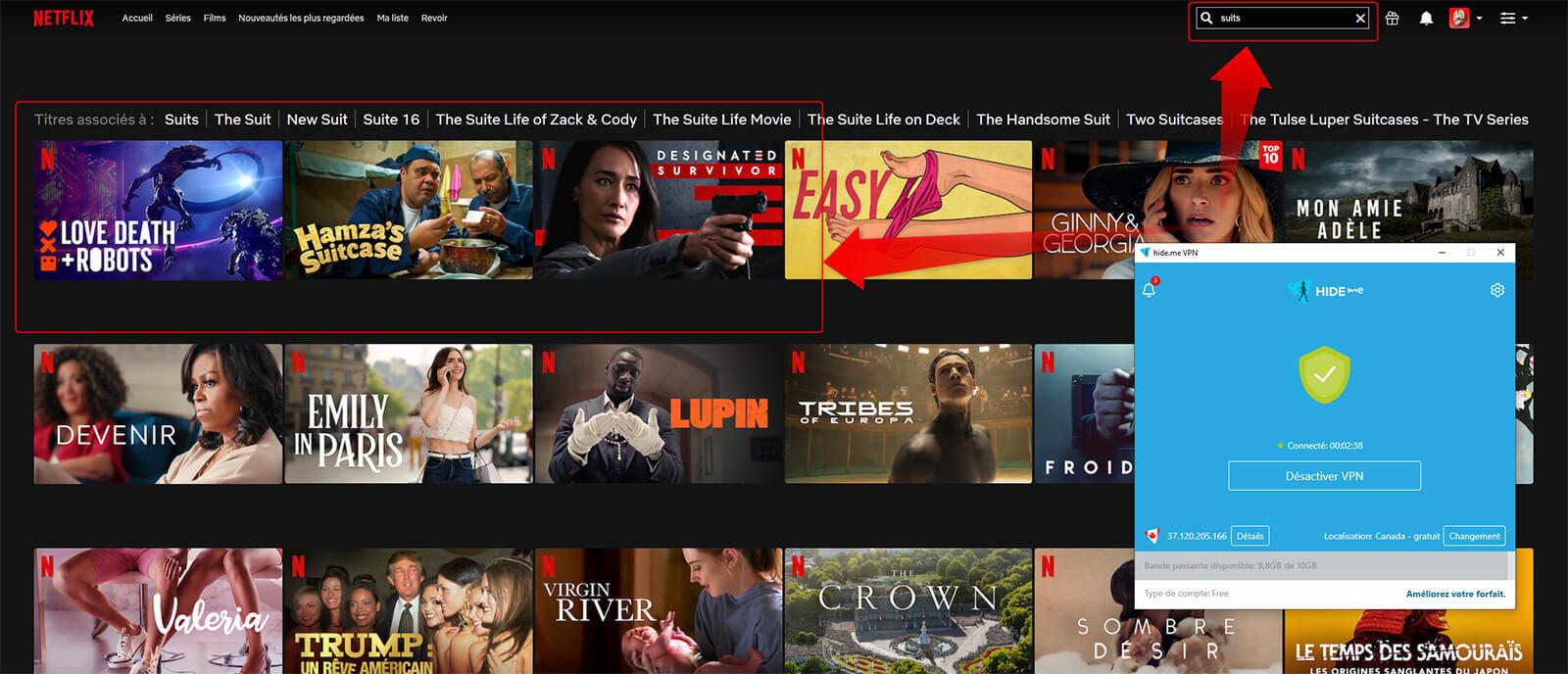Netflix Canada Hide me