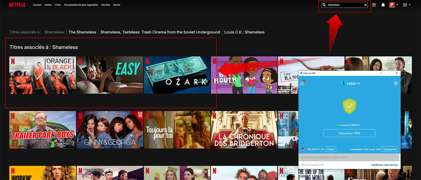 Netflix US Hide me