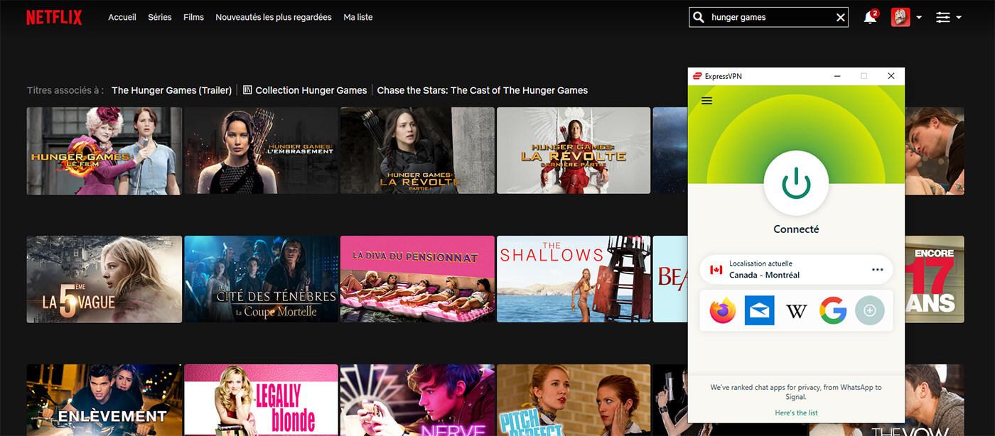 Accès Films Hunger Games Netflix