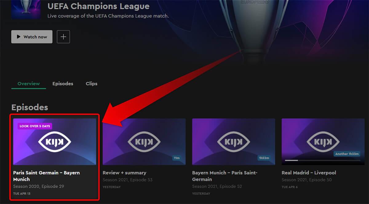 Programme TV KIJK PSG Bayern Ligue des Champions