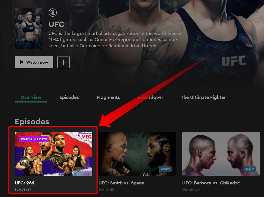 Programme TV KIJK UFC 266