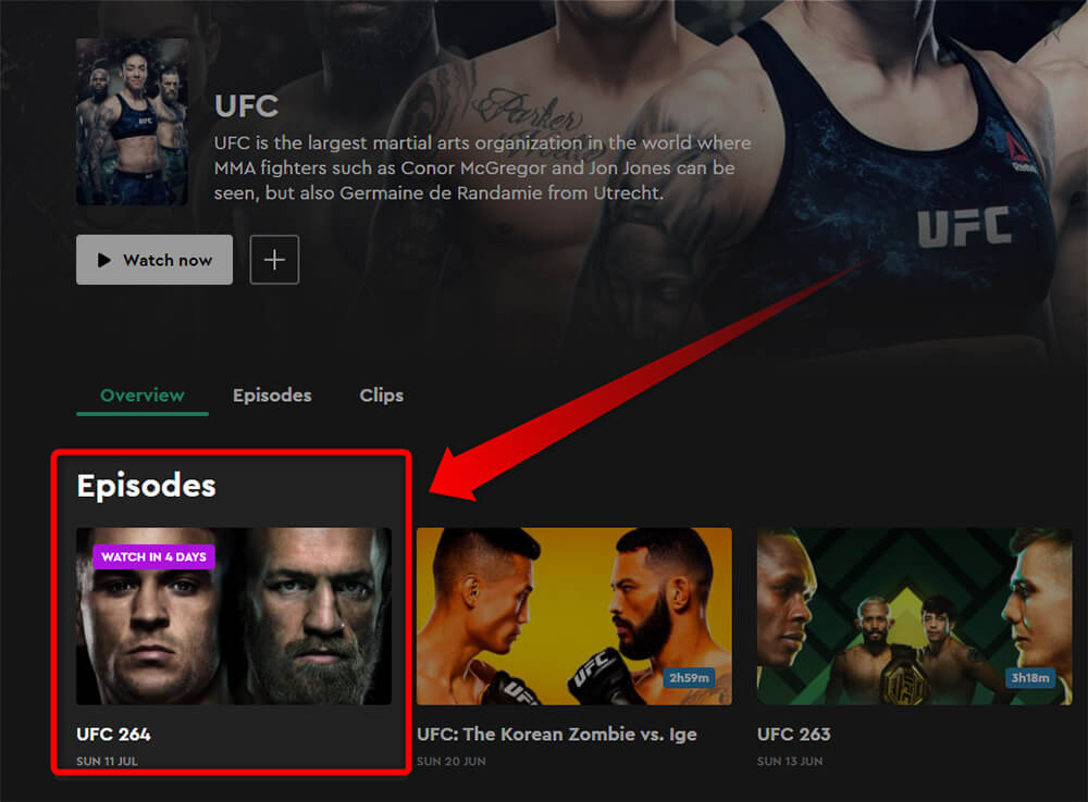 Programme TV UFC 264 McGregor Poirier