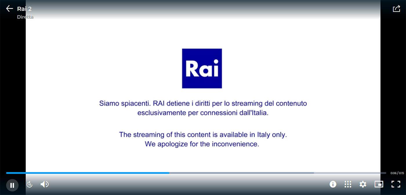 Message blocage RAI en France