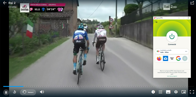 Visionnage Direct Streaming Giro Chaine Gratuite RAI
