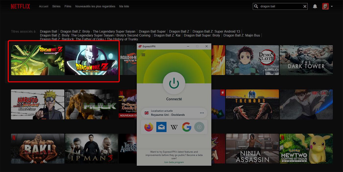 Dragon Ball Z Netflix Royaume Uni