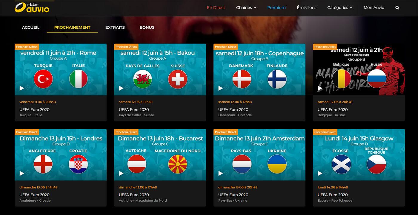Programme TV Euro Foot Chaine Gratuite RTBF