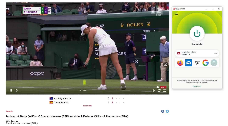 Regarder Wimbledon Streaming Direct RTS