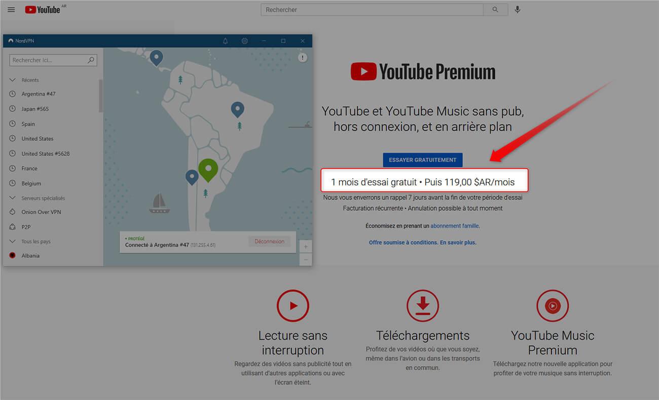 Abonnement YouTube Premium moins cher