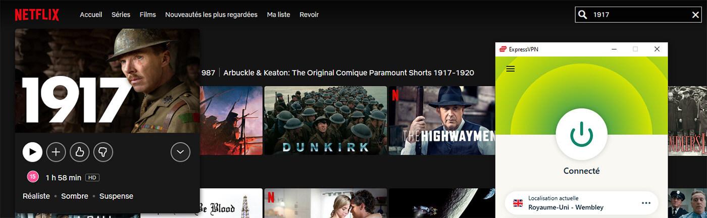Accès Film 1917 Netflix UK